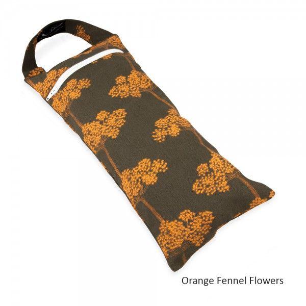 Yoga Sandbag - in Orange Fennel Flower Print
