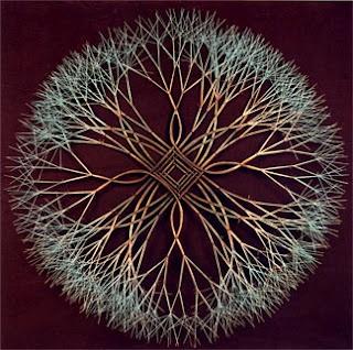 Mandala wire sculpture