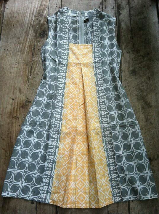 Batik - like the dress pattern