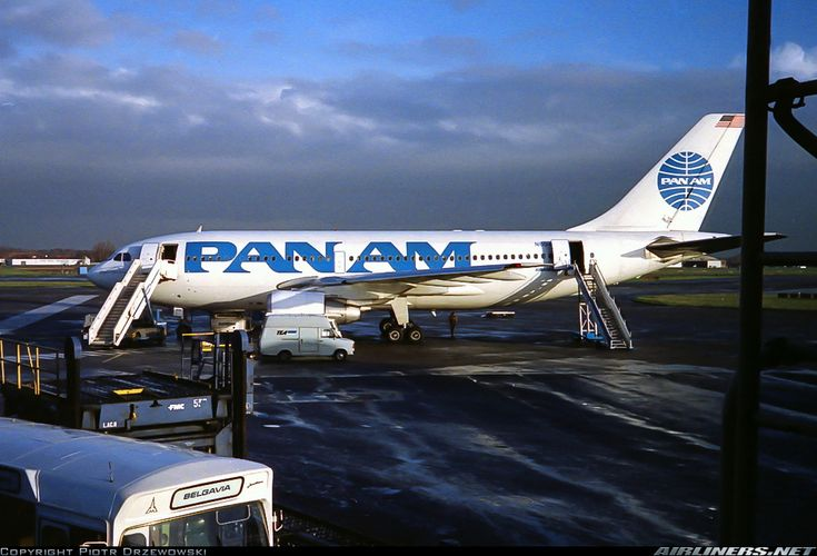 Pan Am Airbus A310-222 Brussels National AirPort 1989