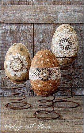 Jaja ukrašena čipkom