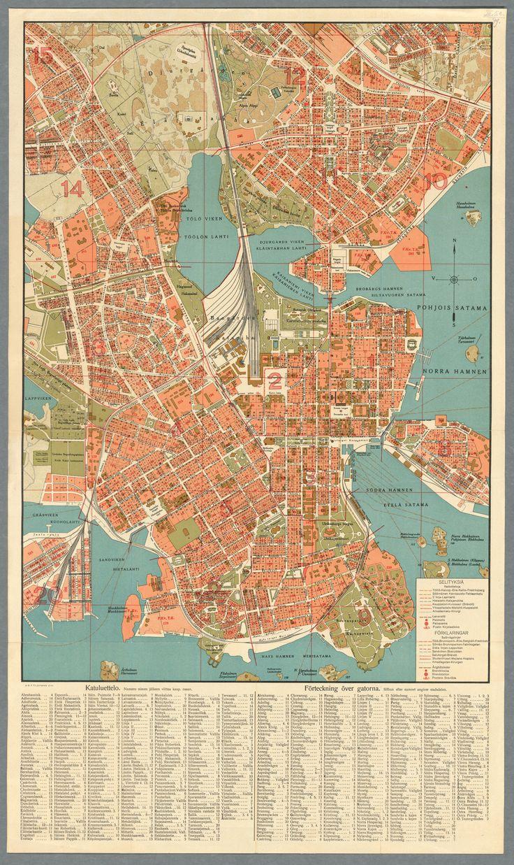 Map Of Helsinki 1924 Map Map Design
