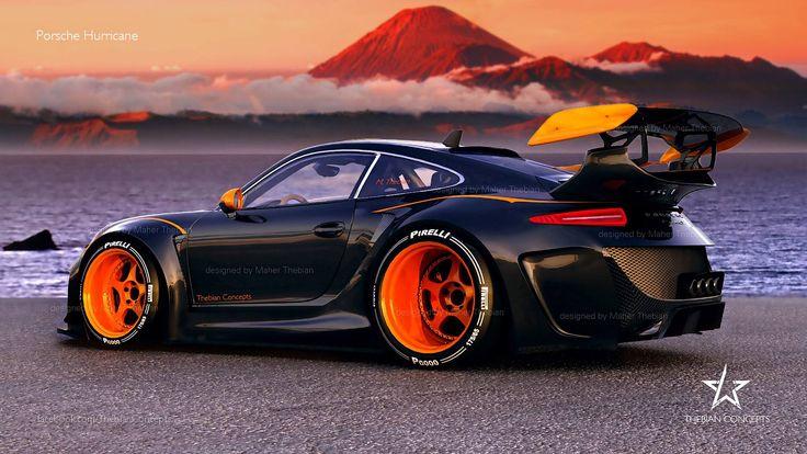 Monster Porsche Hurricane Concept Design: Le Mans GT Racer For The 2020-Season