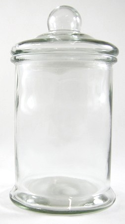 Glass Sealed Lid Candy Jar for Lolly Tables - Large