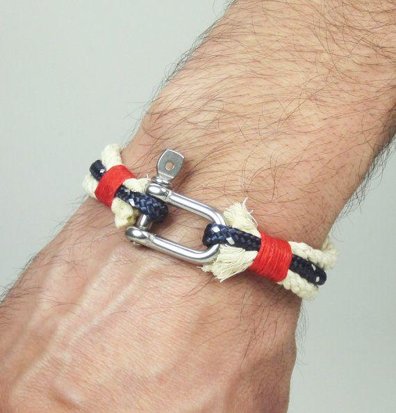 Men's Bracelet Nautical Sailing Bracelet Stainless by ZEcollection, $18.00