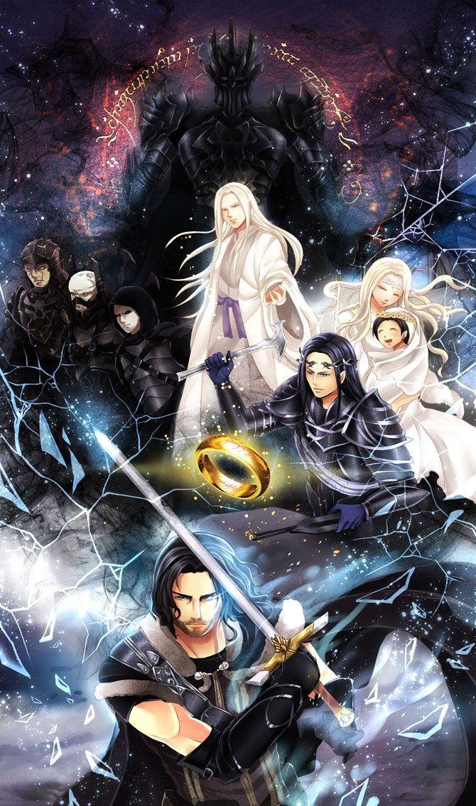 My Heaven — Shadow of Mordor fan art in anime style by me