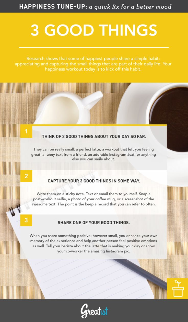 Greatist Happiness Tune-Up: A Brighter Mood (That Lasts!) in 3 Simple Steps --By The Greatist Team on November 4, 2014