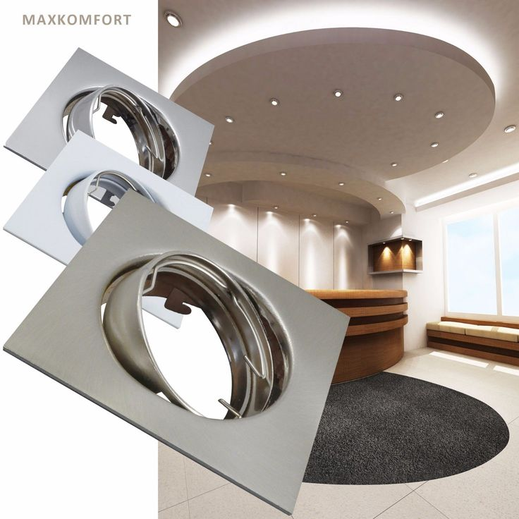 Einbaustrahler Eckig Einbauleuchte Deckenleuchte Spot LED GU10 Einbauspot 405