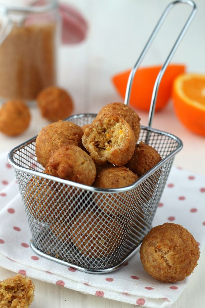 Ricetta castagnole di carnevale integrali all'arancia vegane