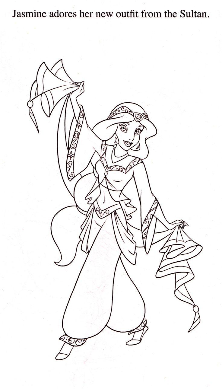 Free Printable Jasmine Coloring Pages Disney Princess