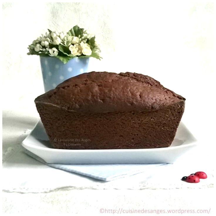 ♥ Recette facile de cake au chocolat très chocolat ♥ 5 pp la part