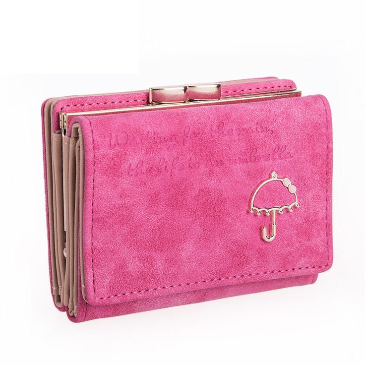 Fashion Simple Foldable Wallet Letters And Small Umbrella Ornament Nubuck Lovely Tri-fold Press Button Money Clip. Yesterday's price: US $28.00 (23.15 EUR). Today's price: US $16.24 (13.30 EUR). Discount: 42%.