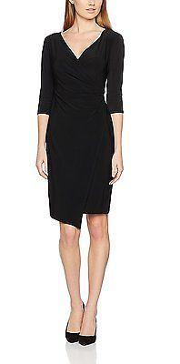 12, Black (Black), Wallis Women's Wrap Dress NEW