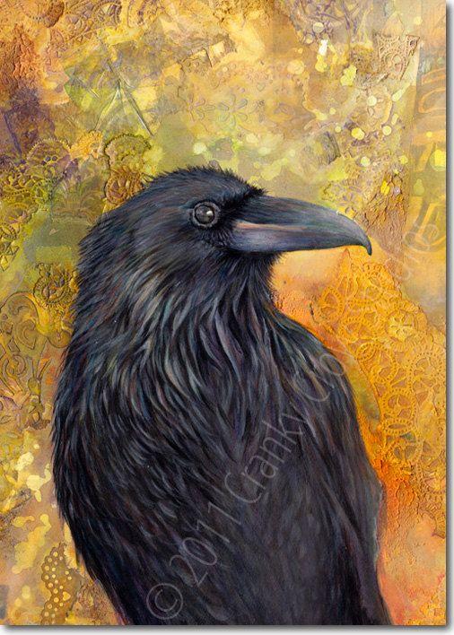 Haida Gwaii Raven by CrankyCrowStudios on Etsy