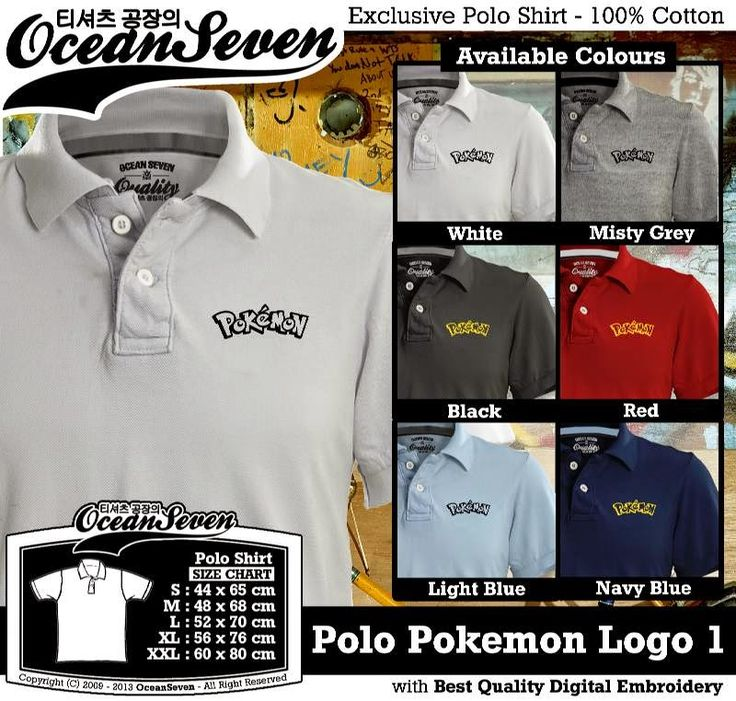 Kaos Polo Pokemon Logo 1 | Kaos Polo - Exclusive Polo Shirt