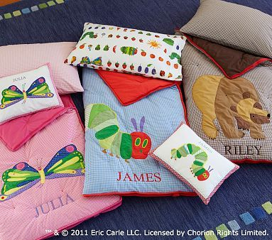 I love the The Very Hungry Caterpillar™ and Brown Bear Toddler Sleeping Bags on potterybarnkids.com