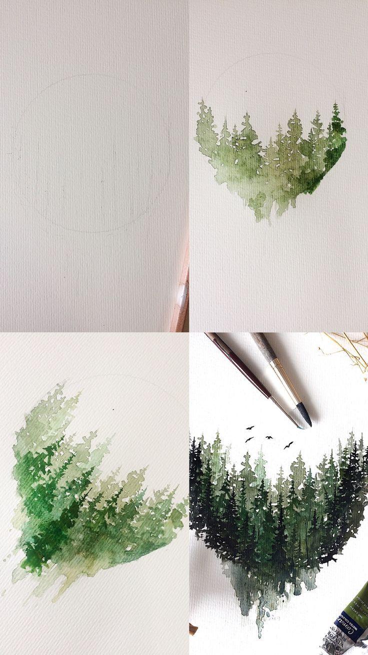 (Rosie Shriver.sketchbook) Prozessfotos zur Aquare…