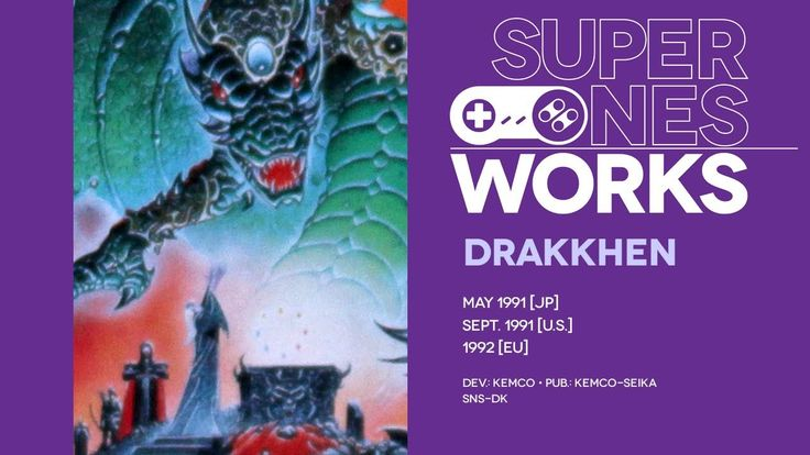 Drakkhen retrospective: Hak hak 'n slash | Super NES Works #007 The Super NES gets its very first RPG, borrowed from the European PC scene, and it's pretty weird! Intriguingly weird, but weird all the same. For example: it's a 3D RPG that uses a flat scrolling visual effect but doesn't make use of Mode 7. What a strange little adventure.