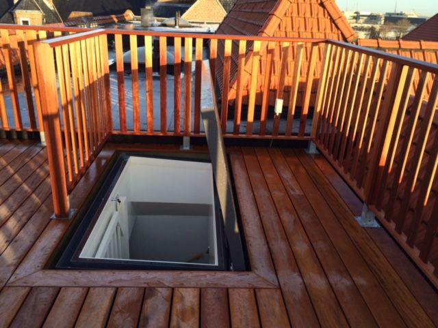 Maintenance Access Skyhatch rooflight installed in Europe