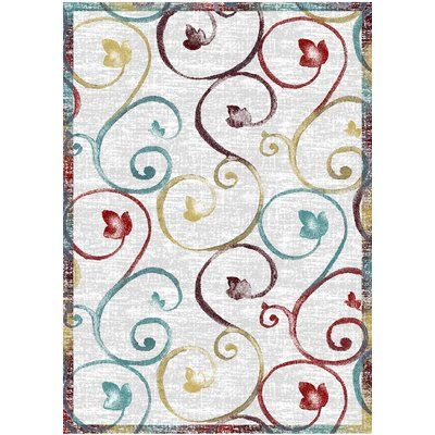 "Andover Mills Perrysville White Area Rug Rug Size: 2'2"" x 5'"