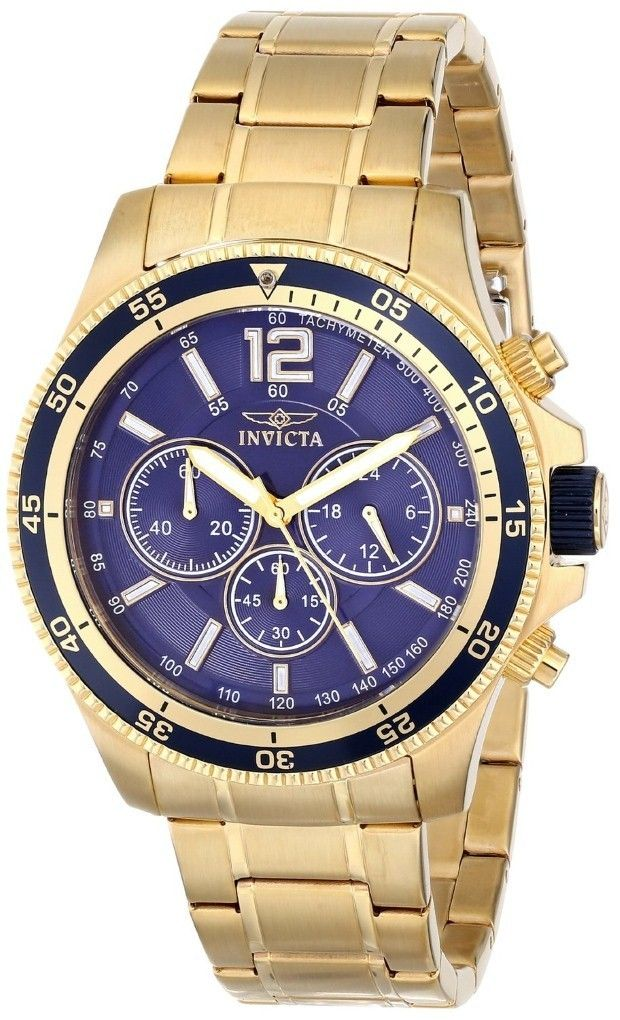 Gold watches : Gold watches men Invicta | Gold watches ...