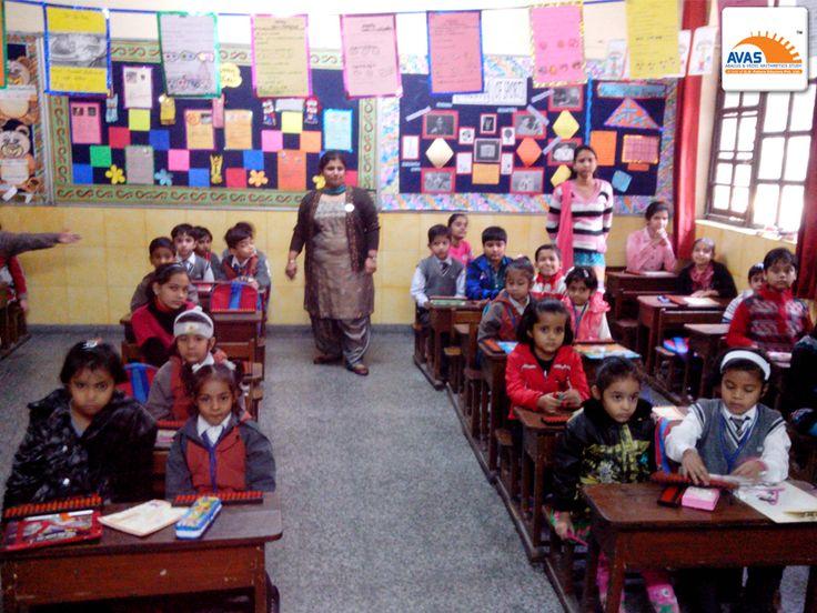 NLC Exam room in Mt Abu School, sec 5 Rohini, AVASIANS giving exam.