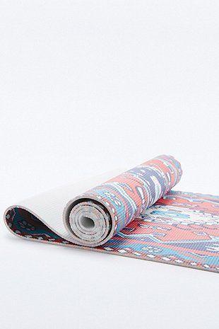 Tapis de yoga imprimé tapis rouge et violet