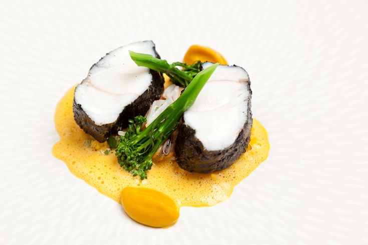 Marcus Eaves' heavenly monkfish dish is as visually striking as it is delicious, pairing the fish with a mussel sauce and butternut squash purée