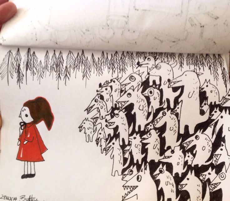 Little red riding hood by doodles by Sonya