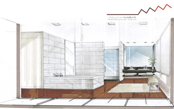Baño Vestidor Minimalista: de cuarto de baño abierto a un vestidor Estilo minimalista Más