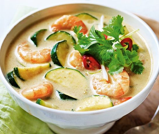 Green Thai courgette and prawn curry | ASDA Recipes