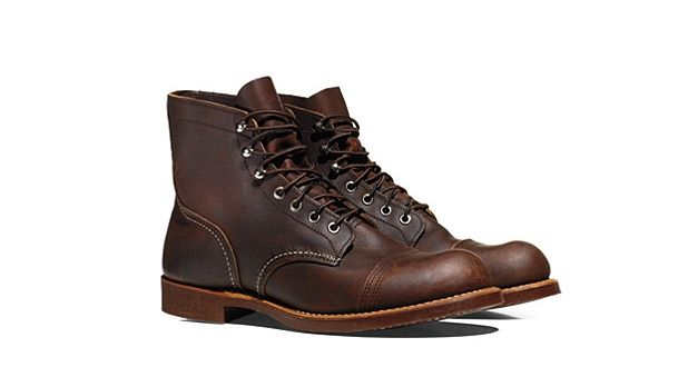 Introduced sometime around Cleveland's second inaugural, the Red Wing Heritage Iron Ranger Boots sport double layers of leather over the toes (for durability) and outside-seam heel pockets (for comfort).