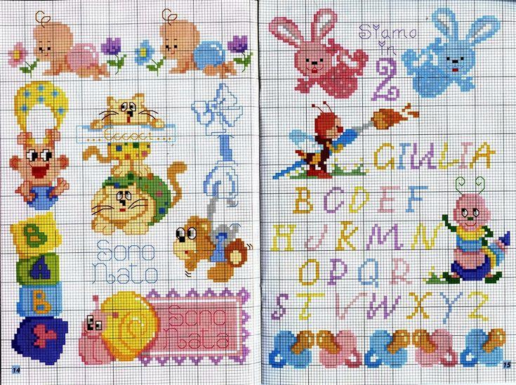 Ricami e schemi a punto croce gratuiti punto croce per for Farfalle a punto croce per bambini