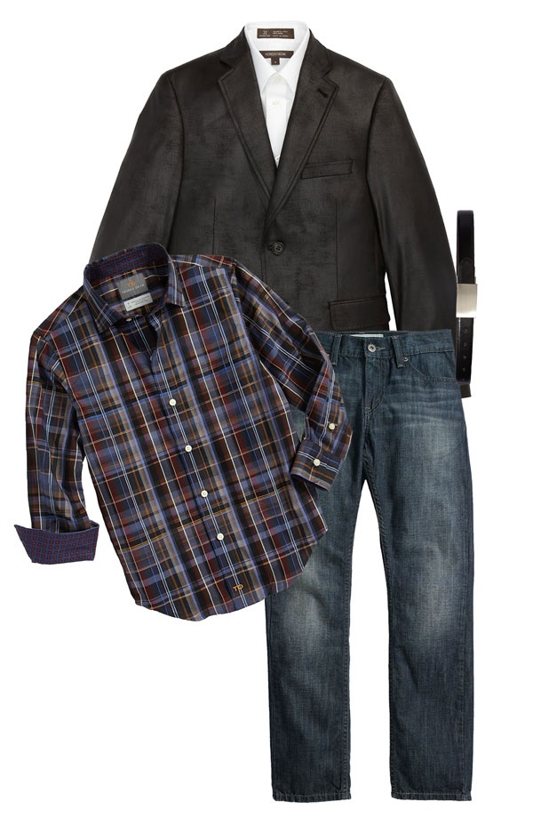 (Ring bearer outfit ) Red button up shirt, no jacket, and cowboy boots. : Free!!!!