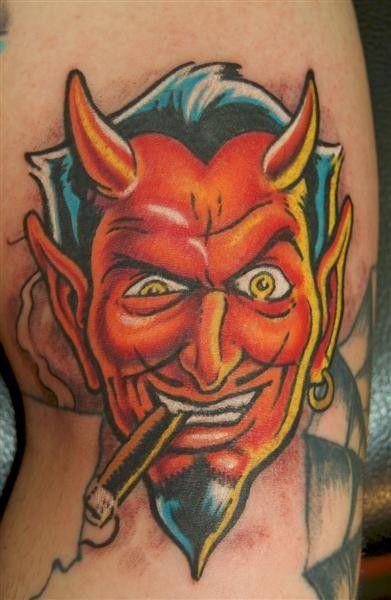 Coop Devil Tattoo Design