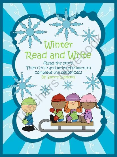 Winter Read and Write from Dr. Clements' Kindergarten on TeachersNotebook.com -  (5 pages)  - Winter Read and Write (Reading Comprehension) 3 pages