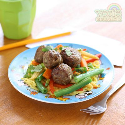 Vegie Smugglers chinese meatballs (and solutions for vegetarian parents who want their kids to eat meat).