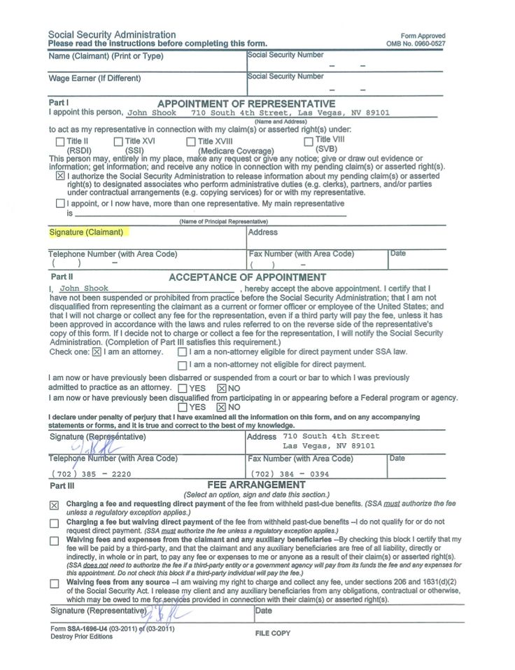 Sign Document  Social Security    Social Security