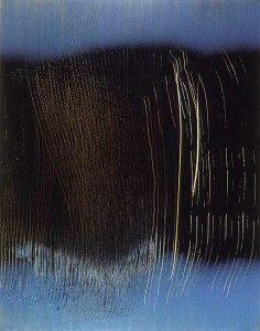 Hans Hartung vinylique sur toile 2423
