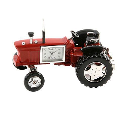 FARM TRACTOR MINI CLOCK DESKTOP COLLECTIBLE GIFT.  Come visit us! :-) A different miniature clock available for every theme, industry and interest. www.miniclock.com