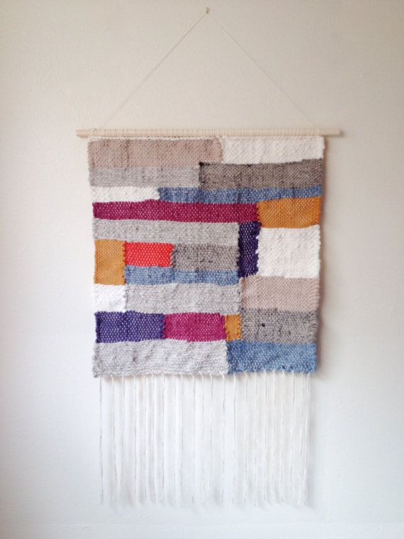 Large Woven tapestry Fringe wall hanging modern home rustic