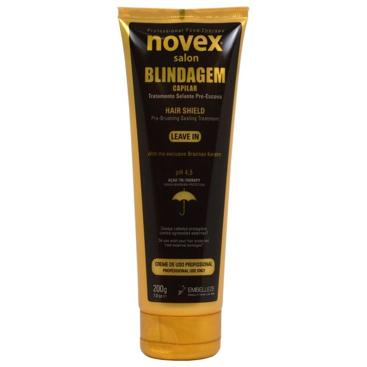 Novex Salon Blindagem Capilar Treatment 7-ounce Hair Shield Leave-in Treatment