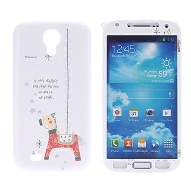 Деревянная Лошадь шаблон Защитные Жесткий Передняя и задняя крышка для Samsung Galaxy i9500 S4 – EUR € 5.51