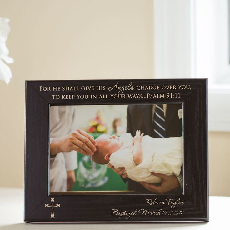 9 best personalized baby gifts images on pinterest personalized personalized baptism picture frame black negle Gallery