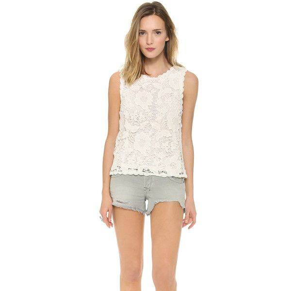 Velvet Shireen Crochet Lace Top - Off White