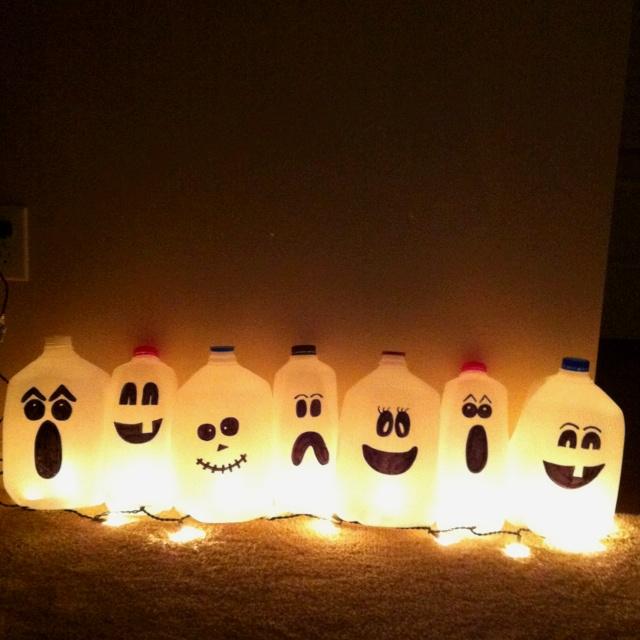 Milk Carton Halloween Crafts Part - 39: My Ghost Milk Cartons!