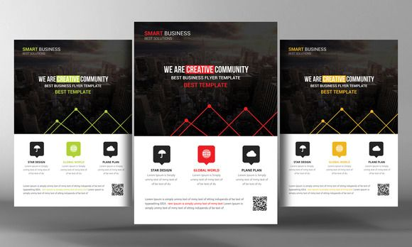 Multipurpose Business Flyer Template by Business Templates on @creativemarket
