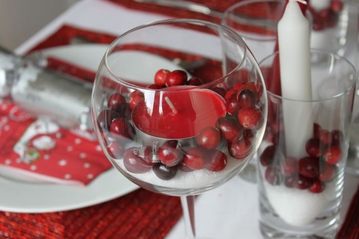 Easy Christmas table deco