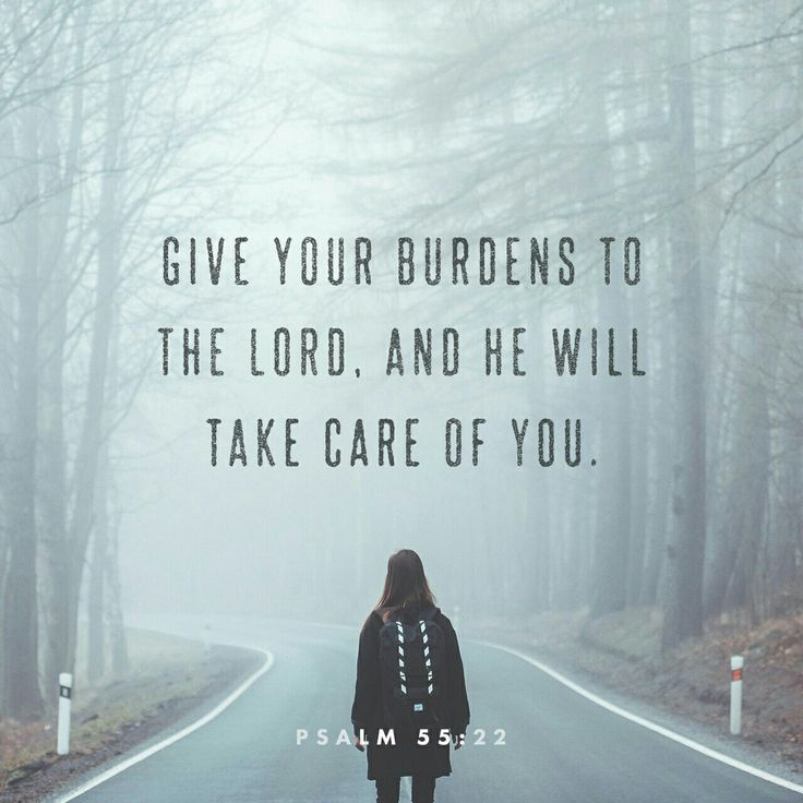 Give your burdens to the Lord , and he will take care of you. He will not permit the godly to slip and fall. Psalms 55 NLT http://bible.com/116/psa.55.22.NLT