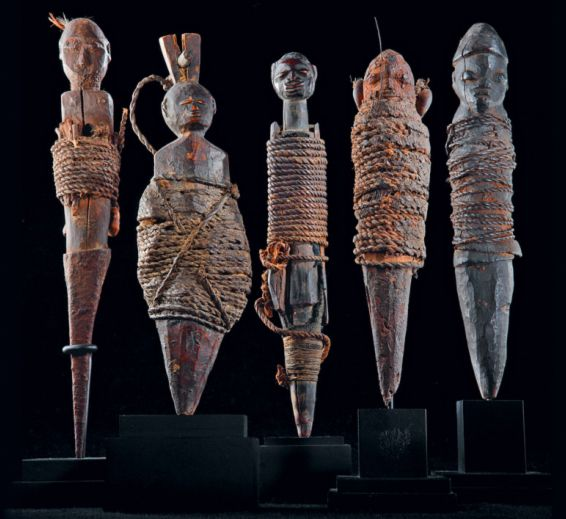 VOODOO dolls found on Louisiana plantations of the 18th and 19th centuries are thought to be based on the bocio style often associated with Western African regions Benin and Togo.